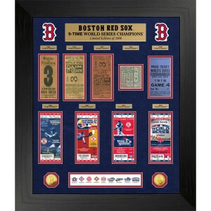 Boston Red Sox World Series Champions Gold Coin & Ticket Collection