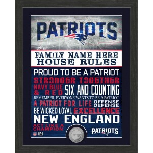 Personalized New England Patriots House Rules Minted Coin Photo Mint