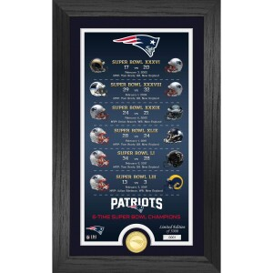 """New England Patriots """"Legacy"""" Bronze Coin Photo Mint"""