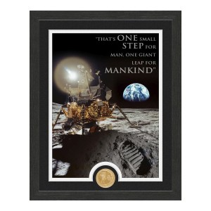 Apollo Moon Landing Quote Bronze Coin Photo Mint