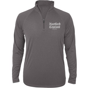 Hartford Courant Stacked Logo Quarter Zip Pullover