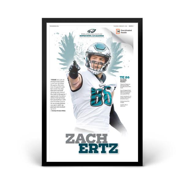 newest d2f5f 7592a Zach Ertz Philadelphia Eagles Player Print 1/31/2018 | Shop ...