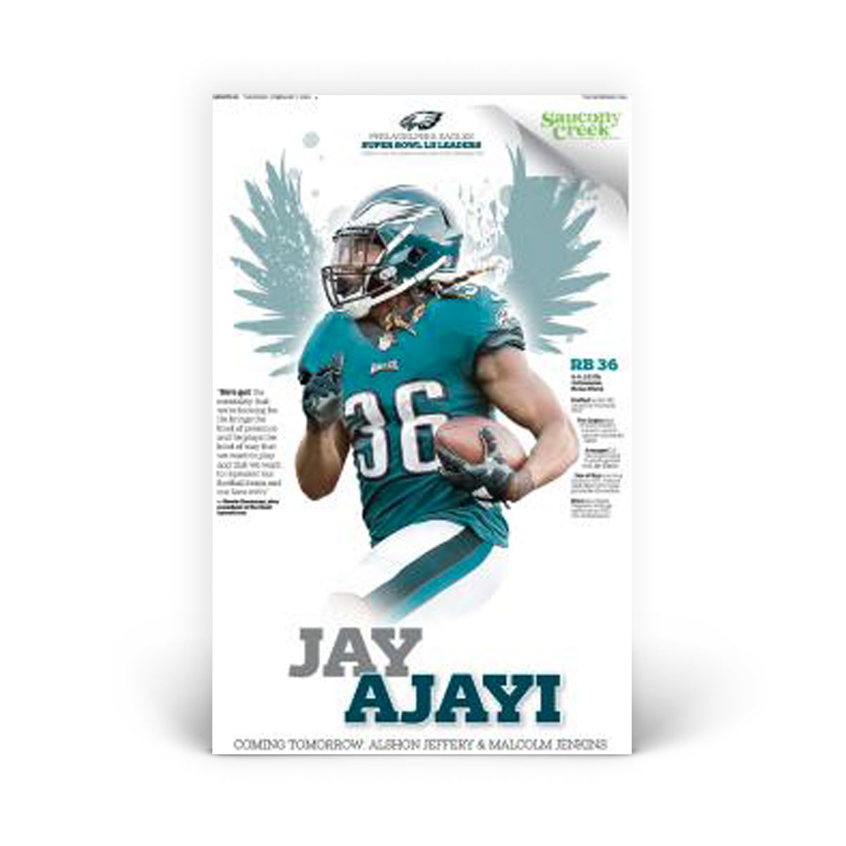 Jay Ajayi Philadelphia Eagles Player Print 2/01/2018