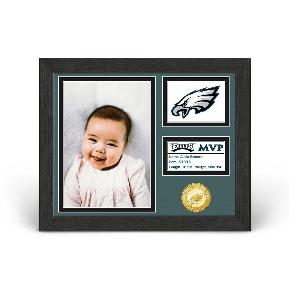 Philadelphia Eagles Baby MVP Personalized Photo Frame