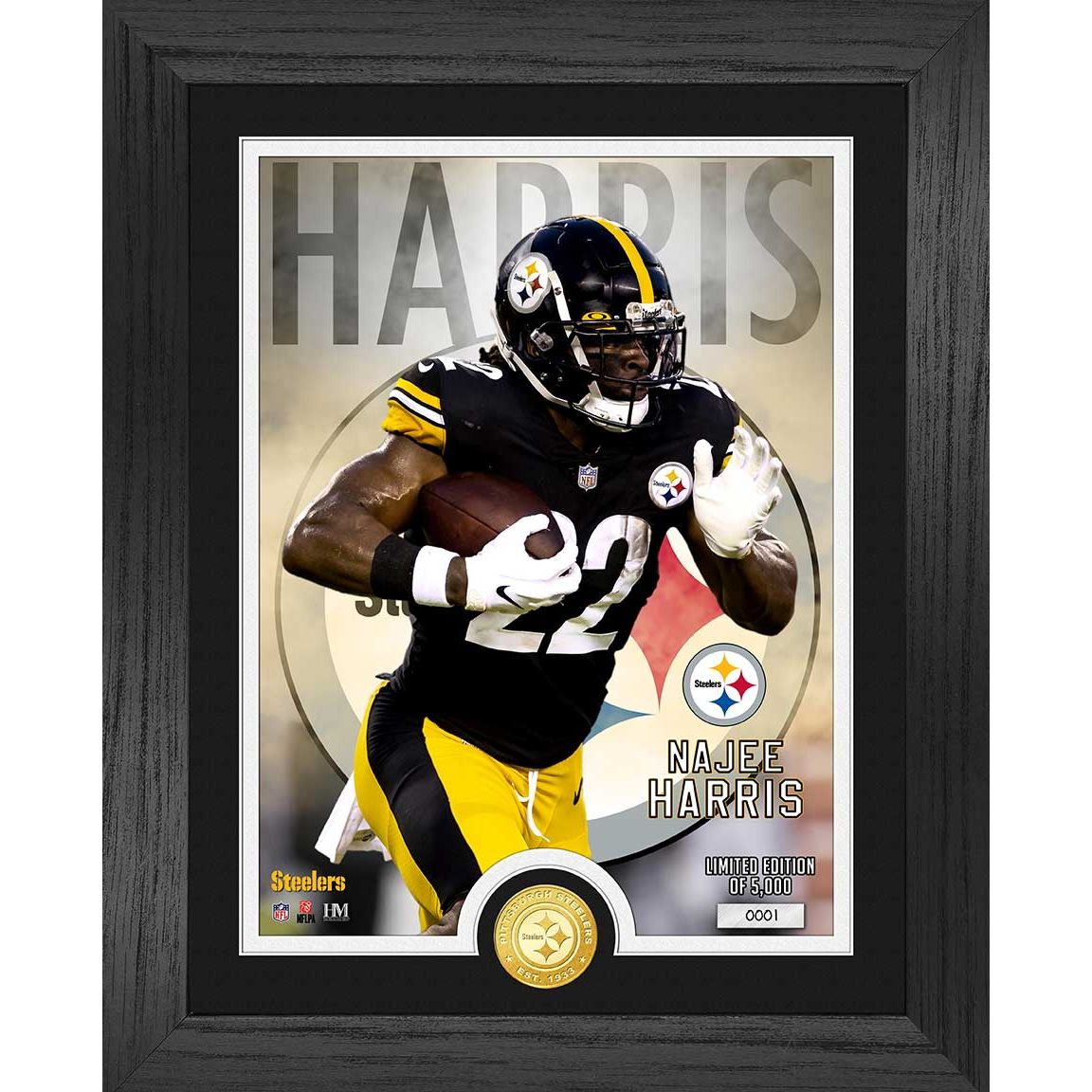 Najee Harris Pittsburgh Steelers Rookie Bronze Coin Photo Mint