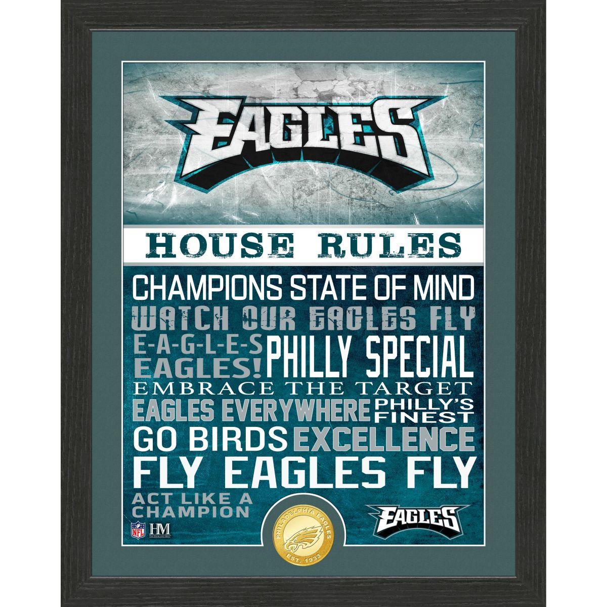 Philadelphia Eagles House Rules Bronze Coin Photo Mint