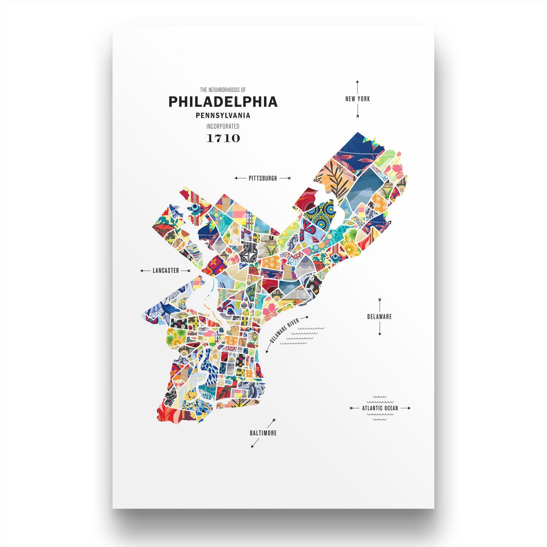 Philadelphia Map Print Poster