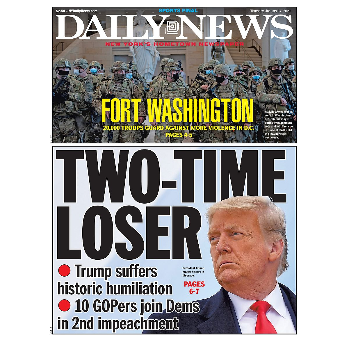 """""""TWO-TIME LOSER"""" 1/14/2021 Page Print"""