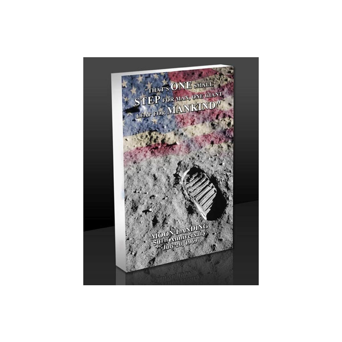 Moon Landing Footprint 3D Acrylic BlocKart