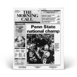 "Commemorative Front Page: ""Penn State National Champ"""