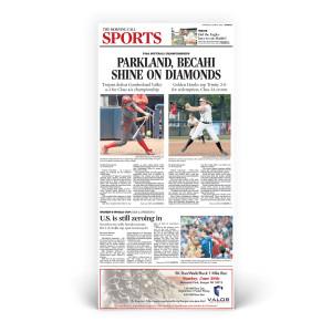 Commemorative Front Page: Bethlehem Catholic HS & Parkland HS 3A & 4A State Titles