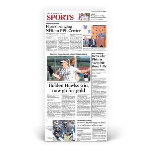 Commemorative Front Page: Bethlehem Catholic Softball Win