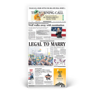 Commemorative Front Page: Same-Sex Marriage 'LEGAL TO MARRY'