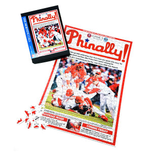 "Philadelphia Phillies 2008 World Series ""Phinally!"" Front Page Jigsaw Puzzle"