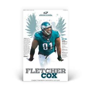 Fletcher Cox Philadelphia Eagles Player Print 1/31/2018