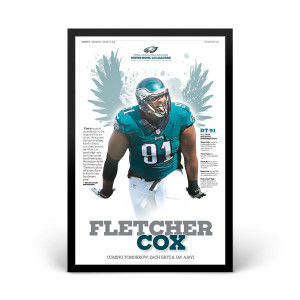 Fletcher Cox Philadelphia Eagles Player Print 1/31/2018