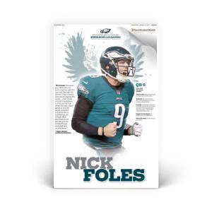 Nick Foles Philadelphia Eagles Player Print 1/31/2018