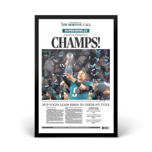 Philadelphia Eagles Super Bowl LII Champions Front Page Print