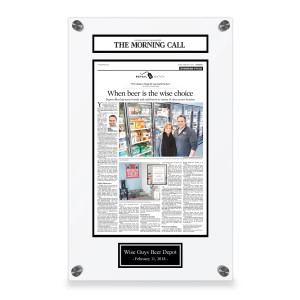 The Morning Call Custom Article Print Plaques