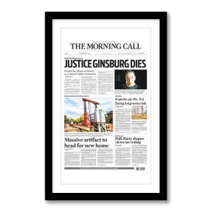 """""""'Justice Ginsburg Dies'"""" 9/19/20 Page Print"""
