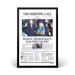"""Biden: Democracy Has Prevailed"" 1/21/2021 Page Print"