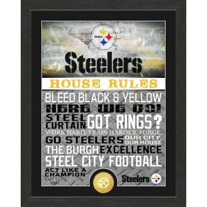 Pittsburgh Steelers House Rules Bronze Coin Photo Mint