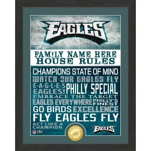 Personalized Philadelphia Eagles House Rules Bronze Coin Photo Mint