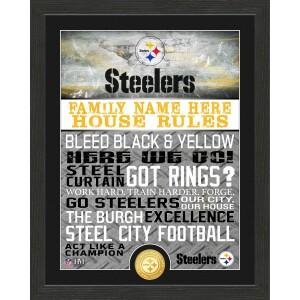 Personalized Pittsburgh Steelers House Rules Bronze Coin Photo Mint