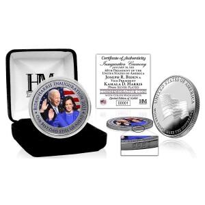 Joe Biden and Kamala Harris Inauguration Color Silver Mint Coin