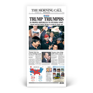 2016 Presidential Election Results 'TRUMP TRIUMPHS' 11/9/2016 Front Page Poster