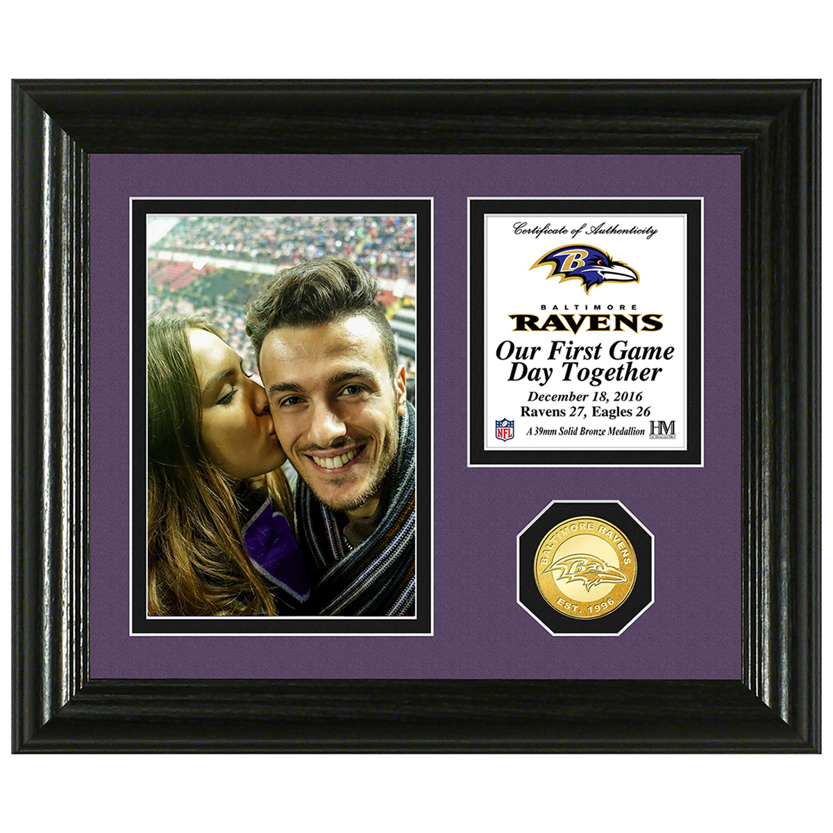 Baltimore Ravens Game Day Personalized Photo Frame