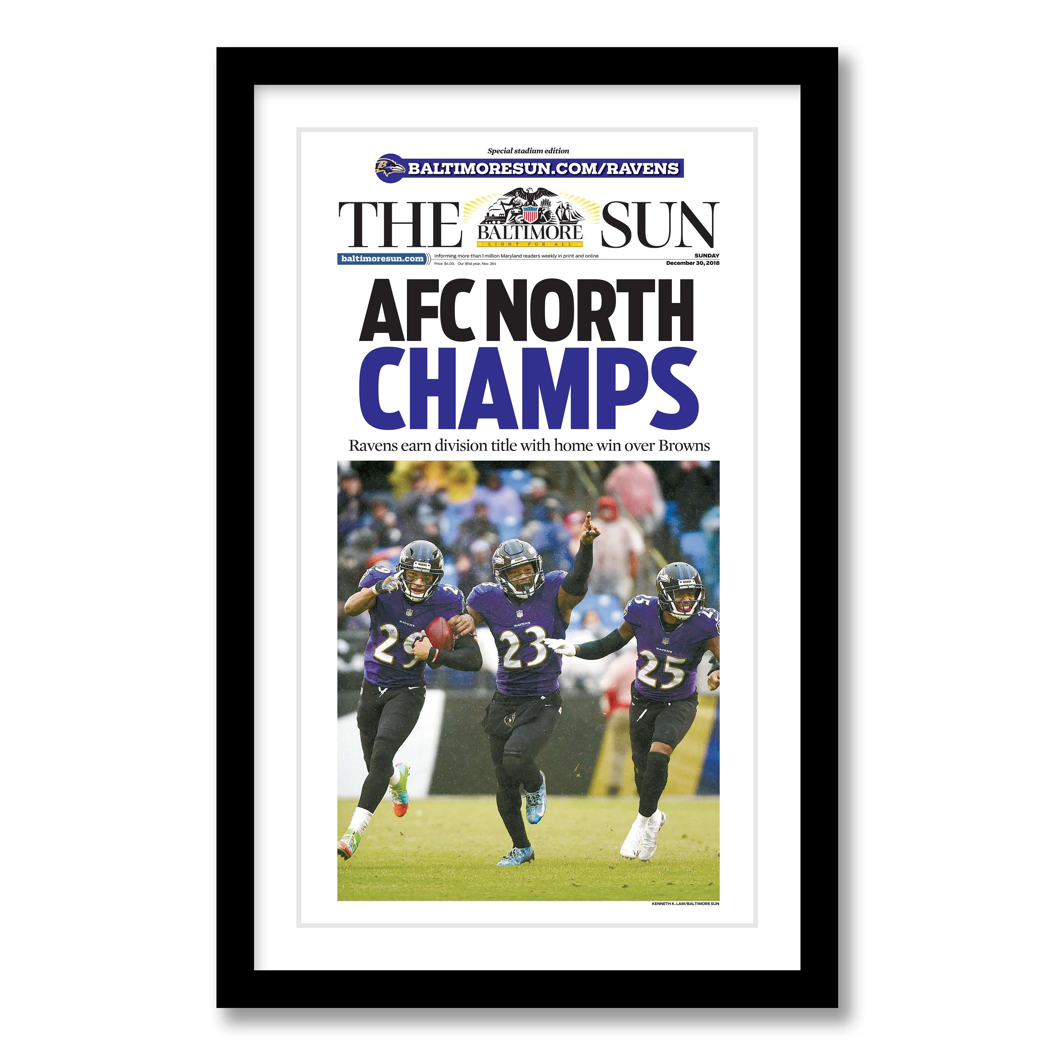 Baltimore Ravens 2018 AFC North Champions Commemorative Page
