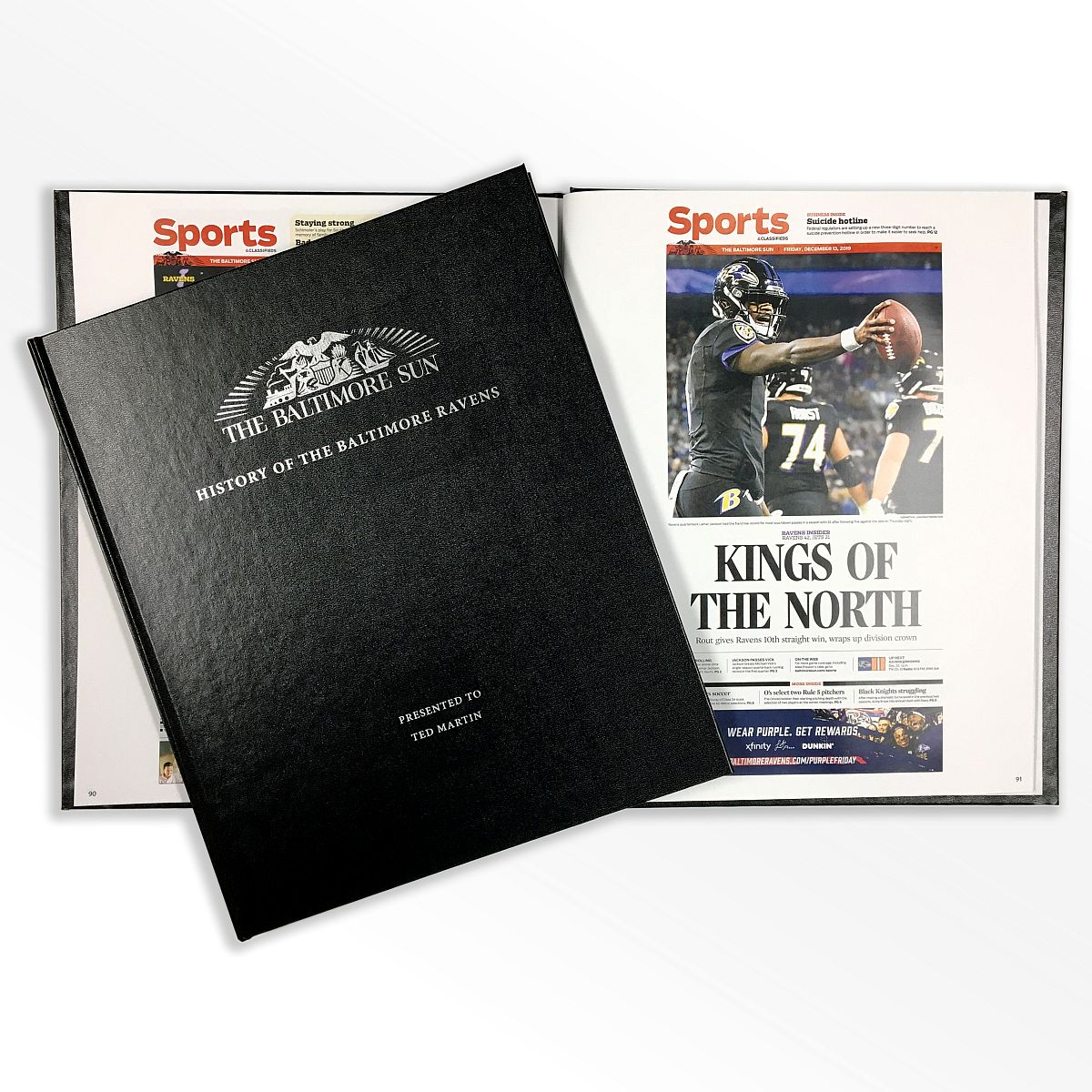 History of the Baltimore Ravens Newspaper Book