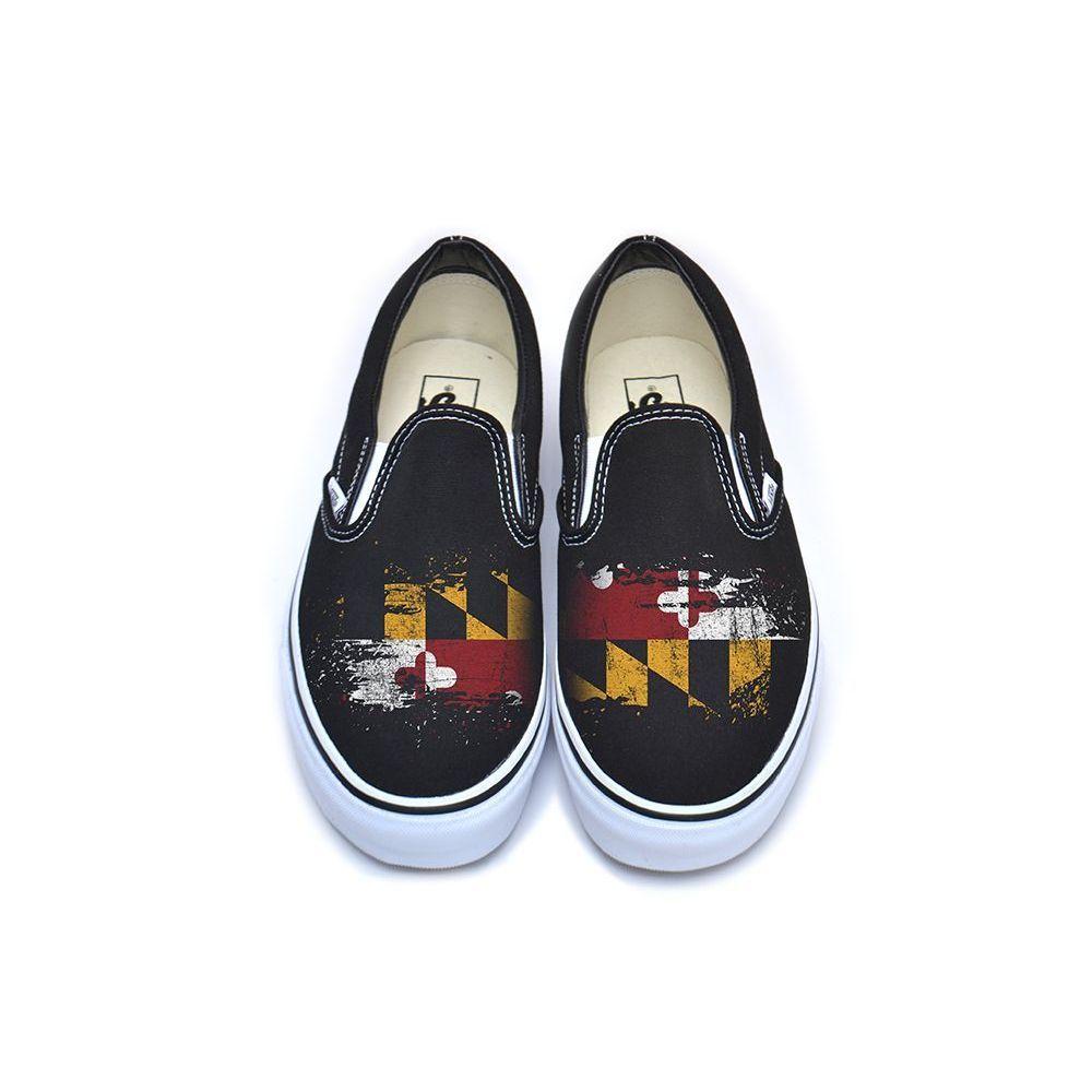 Maryland Flag Vans Classic Slip-On