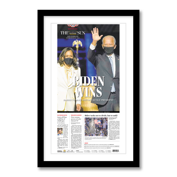 """Biden Wins"" 11/8/20 Page Print"