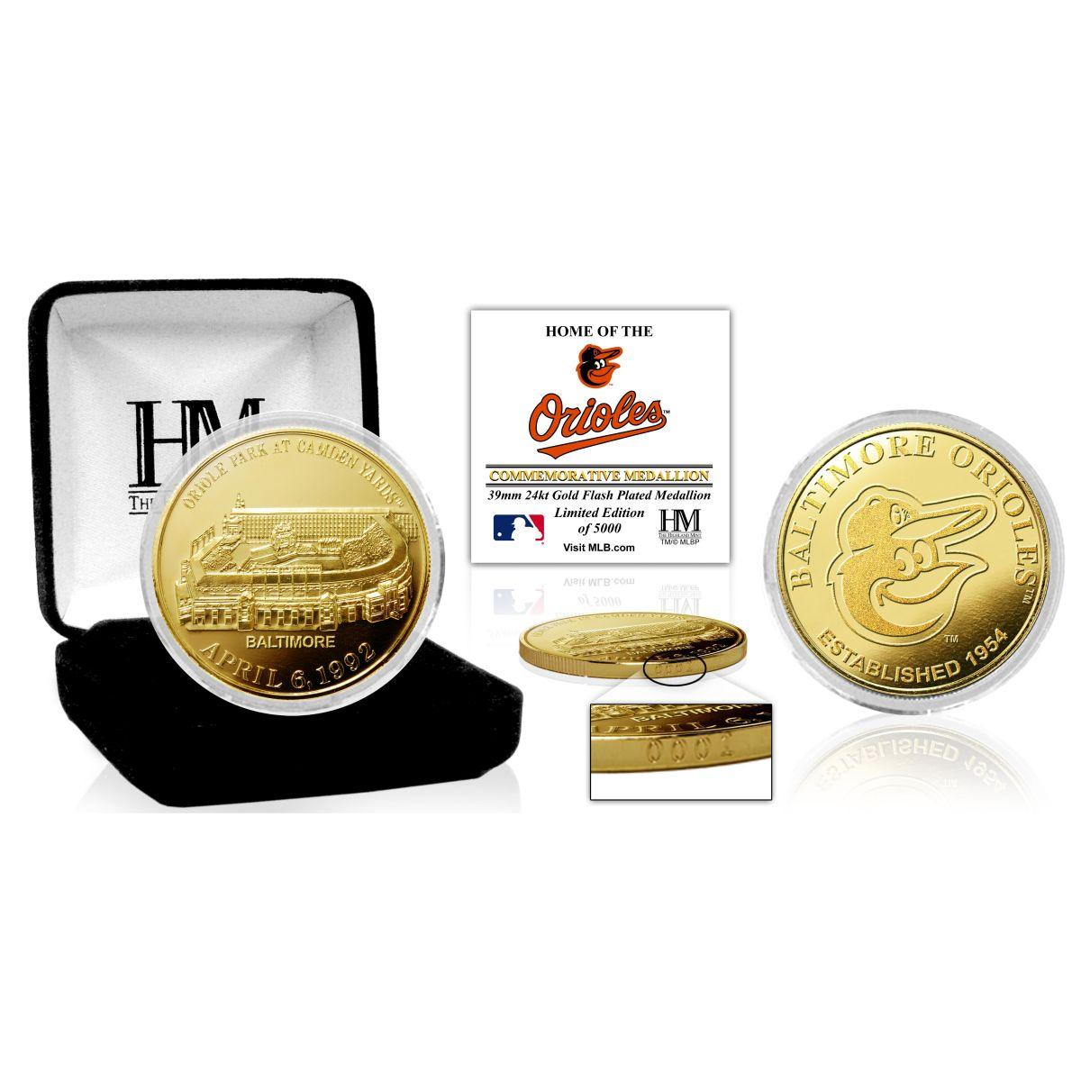 "Baltimore Orioles ""Stadium"" Gold Mint Coin"