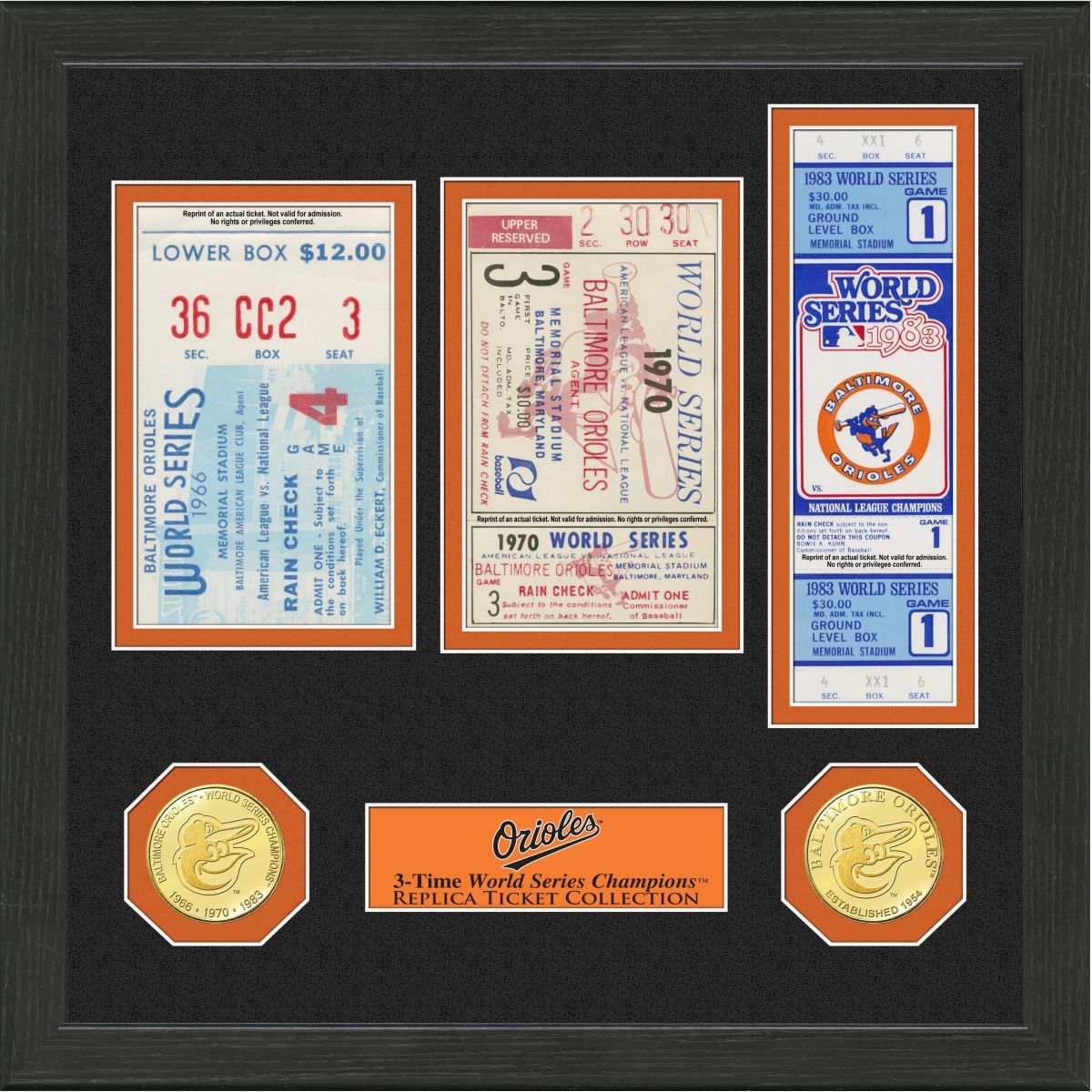 Baltimore Orioles World Series Ticket Collection