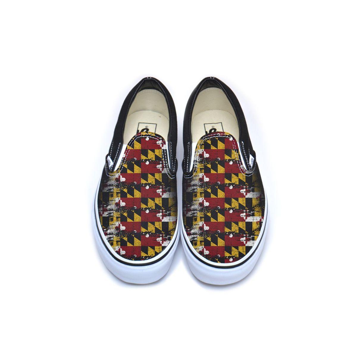 Maryland Flag Vans Classic Slip-On Shoe
