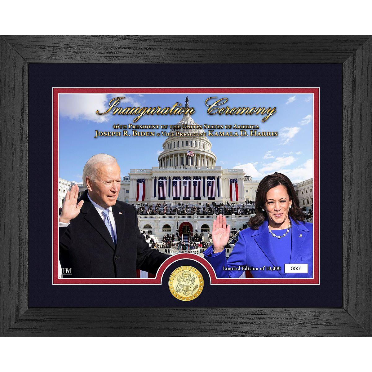 Joe Biden and Kamala Harris Inauguration Bronze Coin Photo Mint
