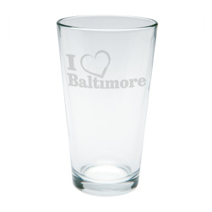 I Heart Baltimore Pint Glass