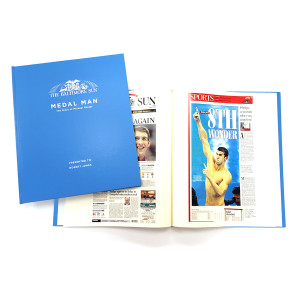 """Medal Man: The Story of Michael Phelps"" Newspaper Book - Personalized"