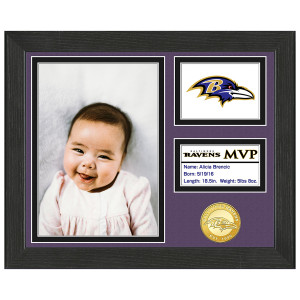Baltimore Ravens Baby MVP Personalized Photo Frame