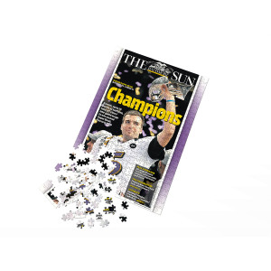 Baltimore Ravens Super Bowl XLVII Front Page Jigsaw Puzzle