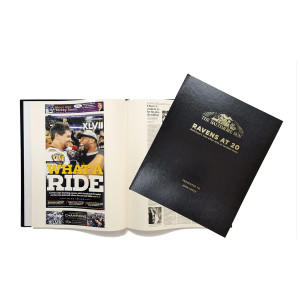 Ravens at 20 Newspaper Book - Personalized