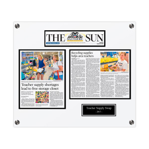 The Baltimore Sun Media Group Custom Article Print Plaques