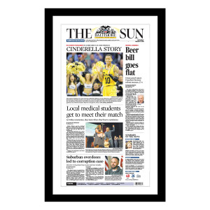 UMBC NCAA Men's Tournament 3/17/18 Front Page Print