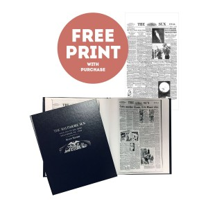 The Baltimore Sun Commemorative Date Book with Free Front Page Print