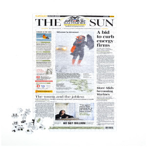 Baltimore Sun Custom Front Page Puzzle