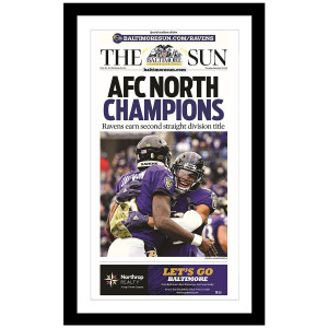 Baltimore Ravens 2019 AFC North Champions Commemorative Page
