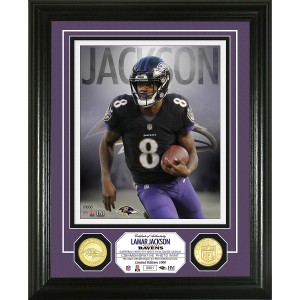 Lamar Jackson Bronze Coin Photo Mint